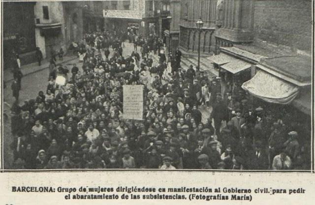 La revuelta de las mujeres. Barcelona, enero de 1918
