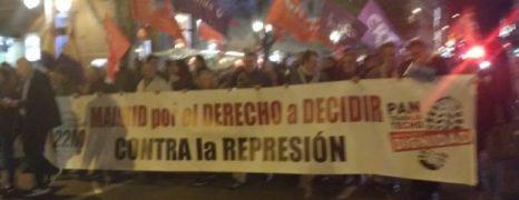 Madrid con el pueblo de Catalunya. ¡No pasarán!