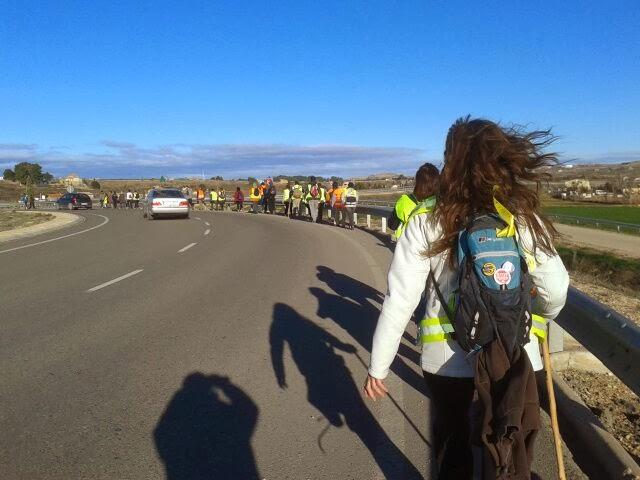 EL 22M TOMAMOS MADRID. Arrancan desde el Baixo Aragón las Marchas por la Dignidad en Aragón con destino a Madrid