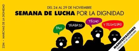 Semana estatal de lucha por la Dignidad (24 al 29 de Noviembre)