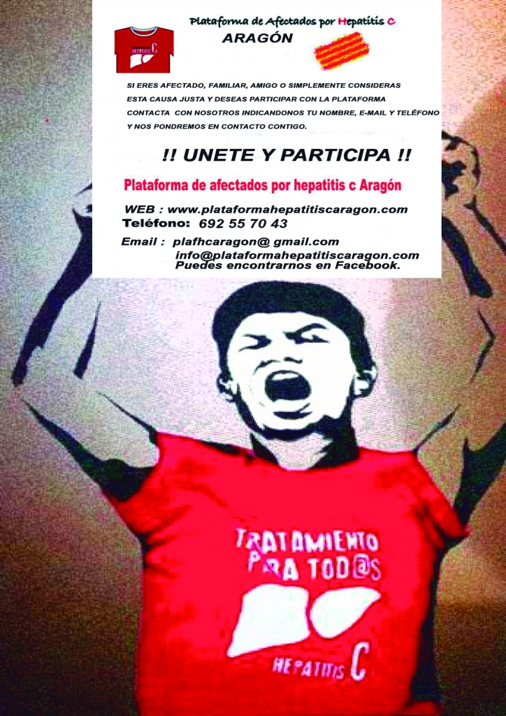 Hepatitis C Aragón. Proposición pacto con los partidos políticos.