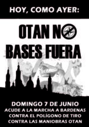 OTAN NO. Sobre las Maniobras OTAN en Zaragoza