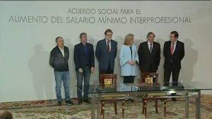 CCOO y UGT vuelven a avalar a M. Rajoy con la firma de un SMI tramposo e insuficiente