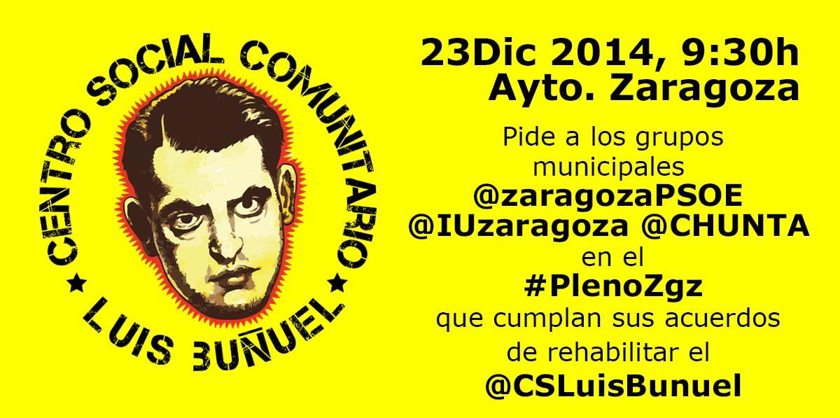 El Luis Buñuel en el Pleno del Ayuntamiento