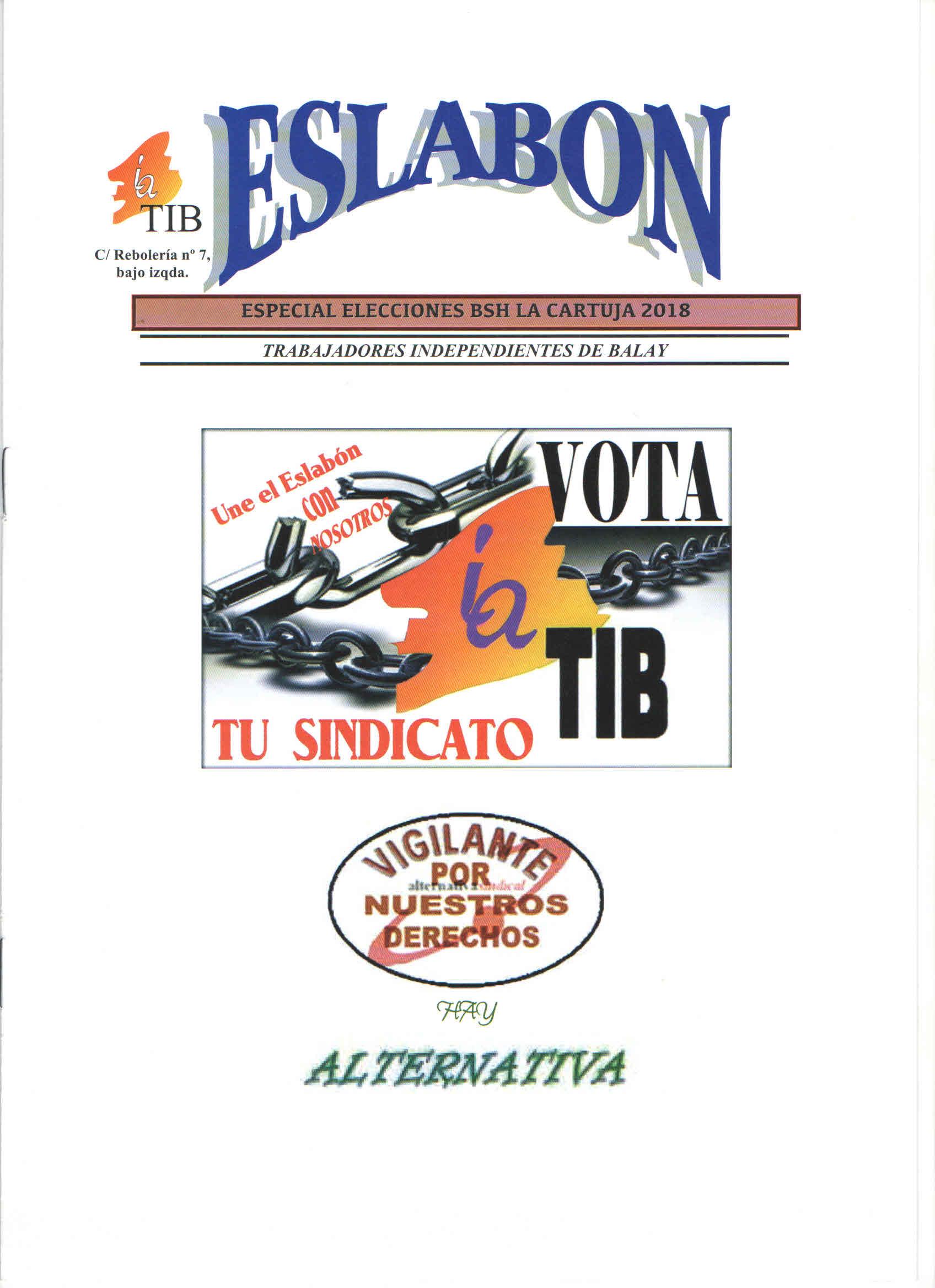 Eslabon especial Elecciones BSH La Cartuja