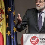 Rajoy fue la estrella en un acto organizado por UGT