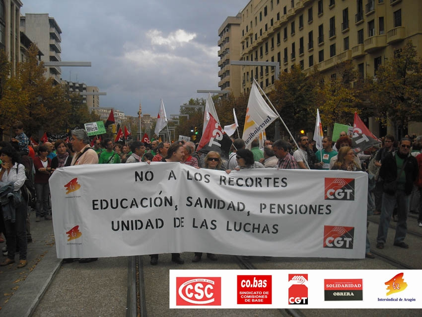 Sindicatos de clase.Marchas por la Dignidad: Unificar las luchas hacia la Huelga General
