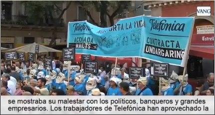 UNION DE COMITES DE TELEFONICA Y SUS CONTRATAS, RESOLUCION Y MANIFIESTO