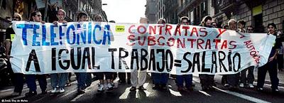 Huelga de técnicos autónomos y subcontratas de Telefónica Movistar Una experiencia exitosa