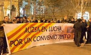Por un convenio justo. Trabajadores de AUZSA en lucha. Resultado votación. ¡¡Que viva la lucha de la clase obrera!!