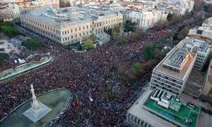 Marchas de la Dignidad. 22-Octubre Volvemos a las calles:  No al pago de la deuda Pan, Trabajo, Techo y Dignidad.