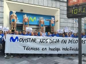 Solidaridad con los técnicos de las contratas de Movistar y denuncia a la compañia