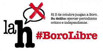 Concentraciones en varias ciudades en apoyo al  periodista de La haine Boro LH