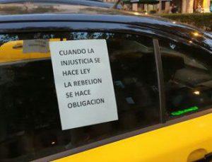 Nota de Marchas de la Dignidad de Aragón en apoyo a las movilizaciones del sector del taxi