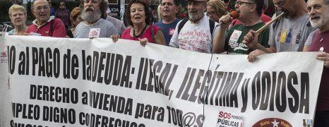 Fotos de la concentración ante el CE Federica Montseny, en Madrid, dentro de la semana de lucha previa a la manifestació de Las Marchas de la Dignidad del 27 de Mayo