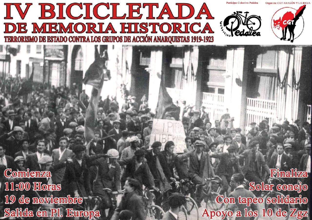 IV BICICLETADA DE MEMORIA HISTÓRICA