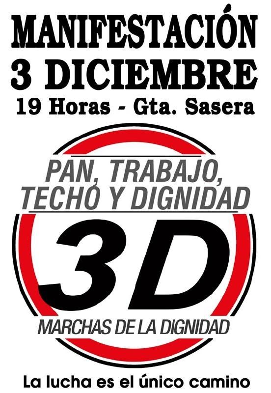 Apunten esta fecha: Sábado 3 de diciembre. Las MARCHAS DE LA DIGNIDAD convocan…