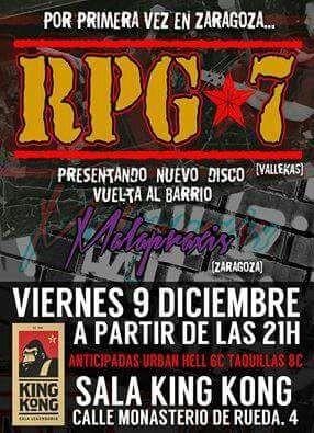 Clausura de Noviembre Antifascista 2016 en Zaragoza. Concierto.