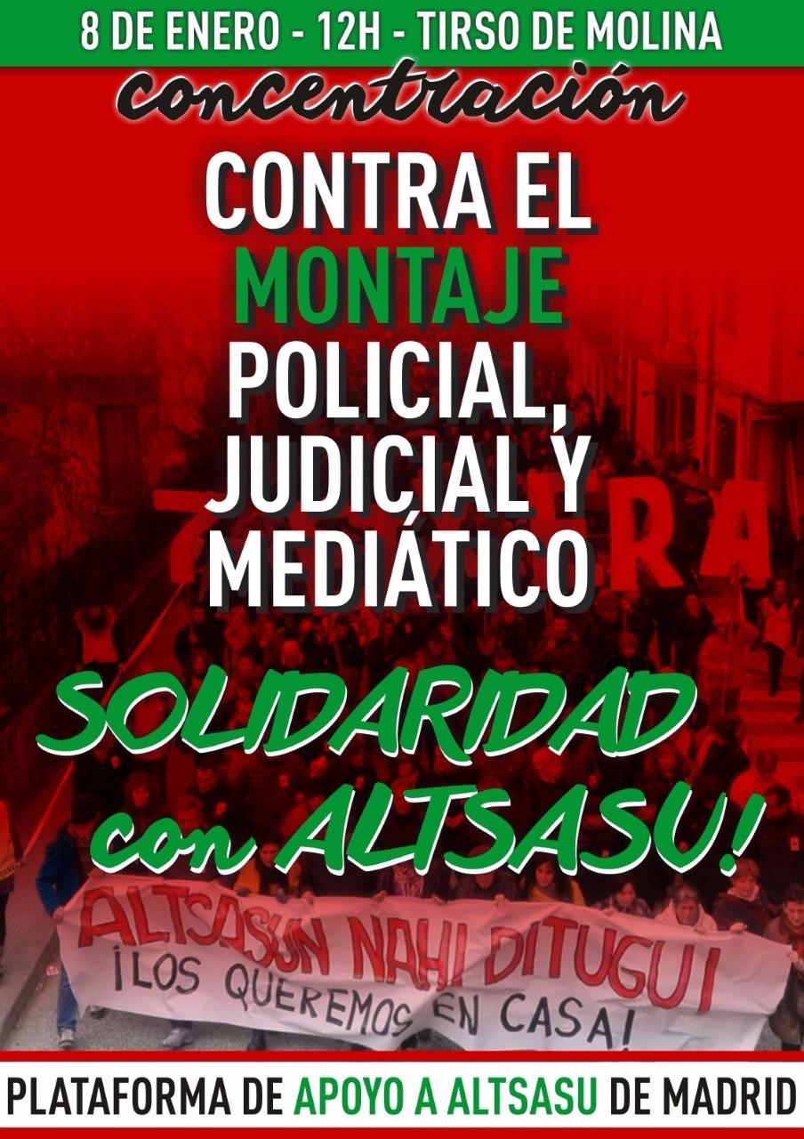 CONCENTRACION CONTRA EL MONTAJE POLICIAL, JUDICIAL Y MEDIATICO EN ALTASASU