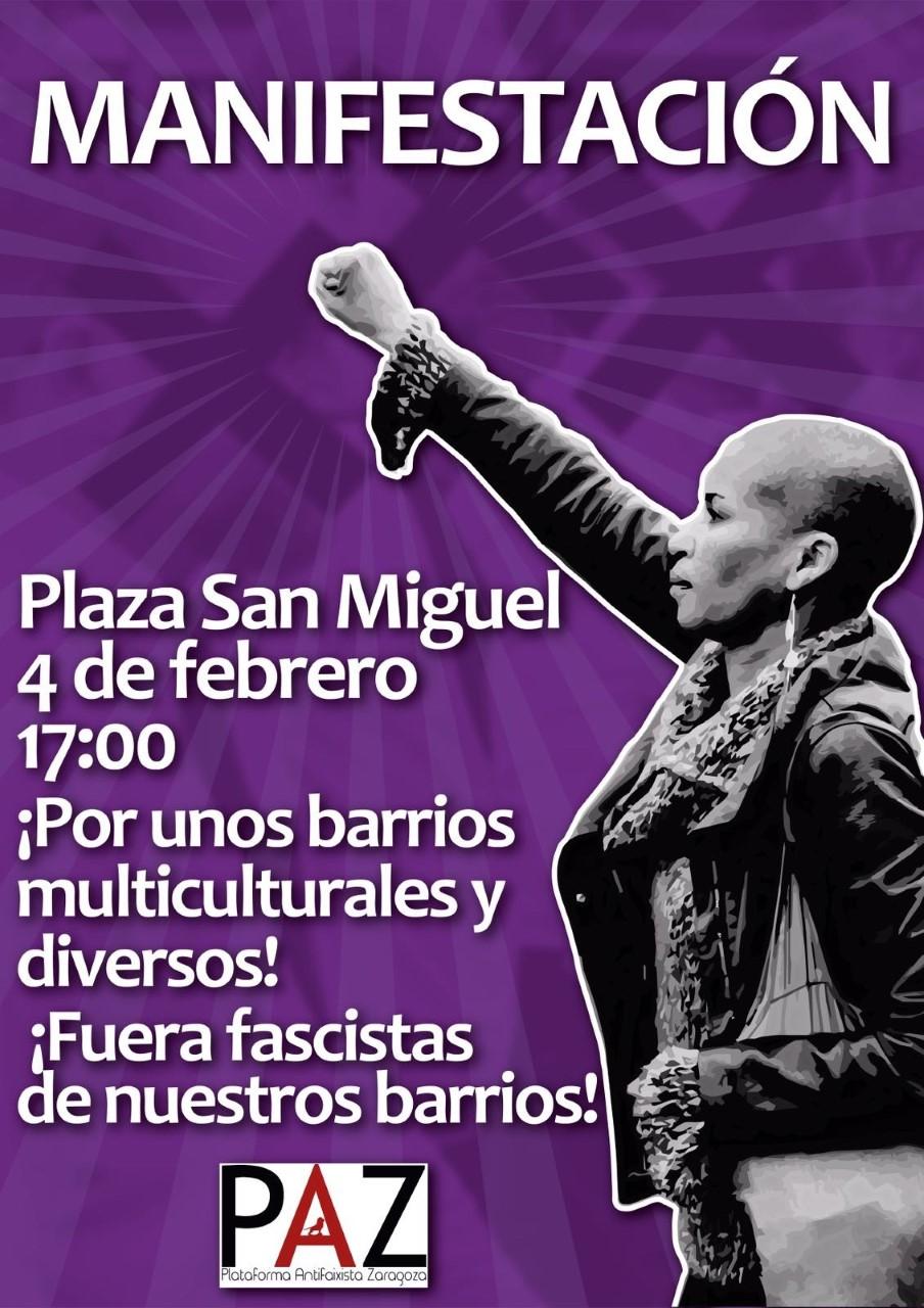 JORNADAS NAZIS EN ZARAGOZA. ESTE SÁBADO 4 DE FEBRERO. MANIFESTACION ¡¡Fuera fascistas de nuestros barrios!!