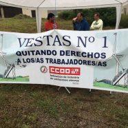 Las secciones sindicales de Vestas, se unen para exigir los derechos laborales de la clase trabajadora