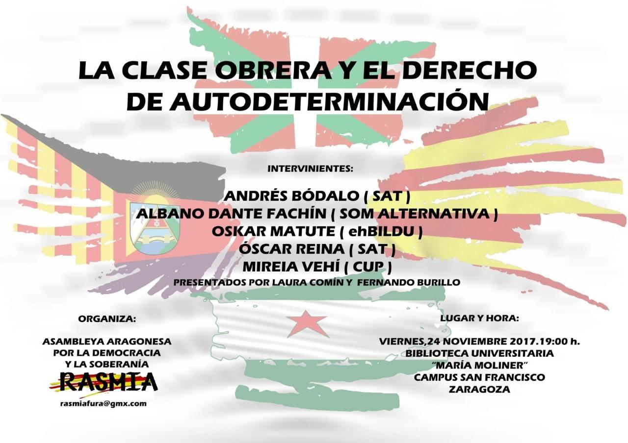 Charla en Zaragoza. La clase obrera y el derecho de autodeterminación.