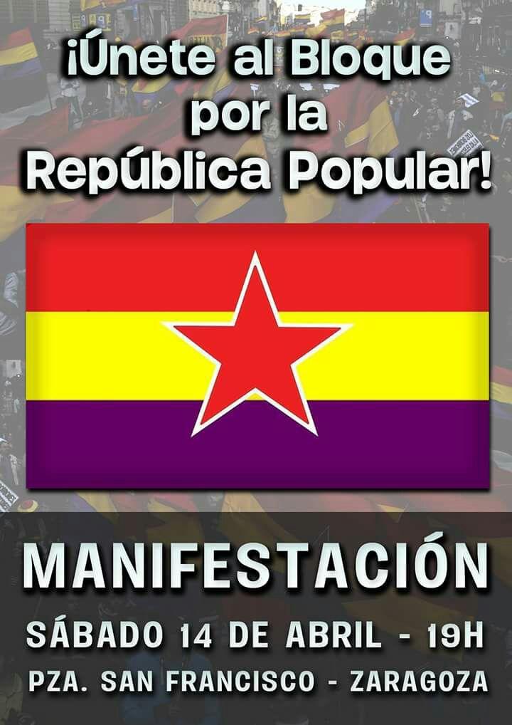 Jornadas y Manifestación el 14 de Abril por la República