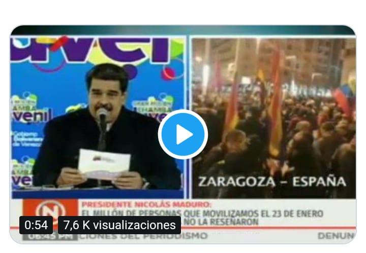 Zaragoza contra el imperialismo en Venezuela. Fotos y Videos.