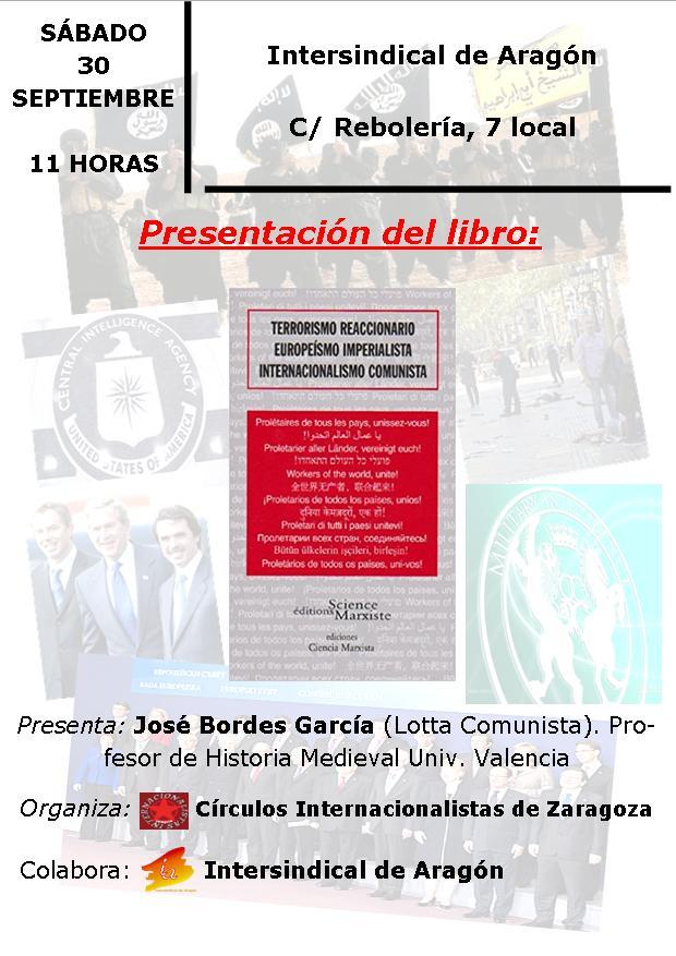 Presentación libro: «Terrorismo reaccionario, Europeísmo imperialista, Internacionalismo comunista».