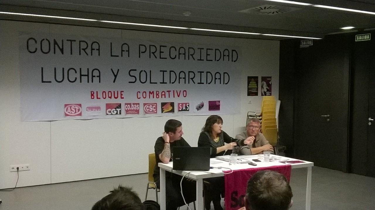 Por la organización, unidad social y sindical, para luchar contra este Sistema. Fotos y contenido de la charla explicativa en Zaragoza, de la experiencia de lucha de la clase obrera francesa, contra las reformas capitalistas de Hollande.
