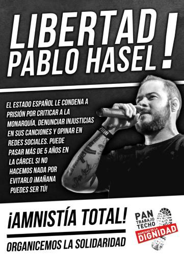 Campaña por la libertad de Pablo Hasel en Zaragoza