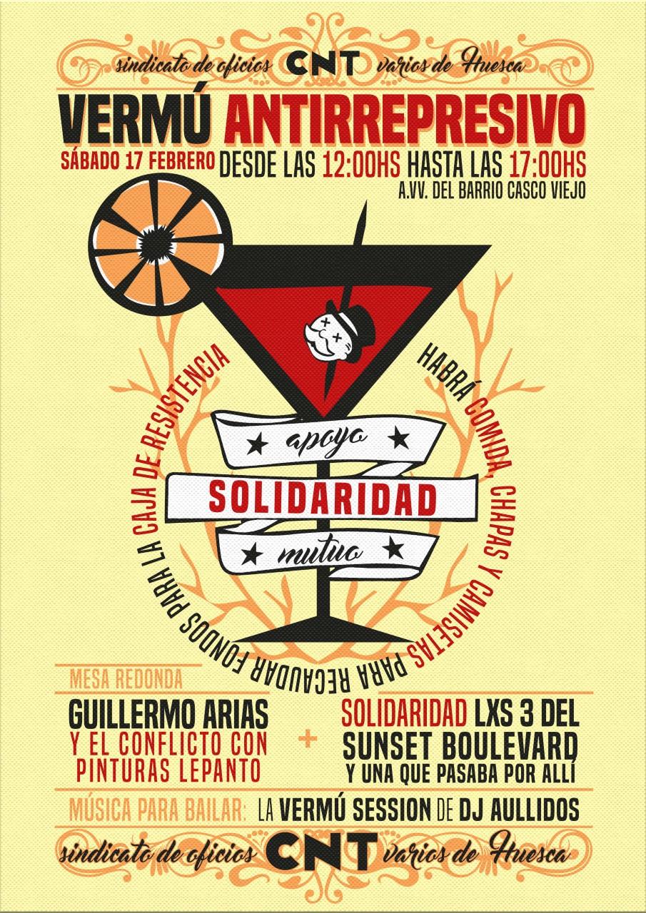 Manifiesto CNT Huesca y Grupo de Apoyo a lxs 3 del Sunset y una que pasaba por allí