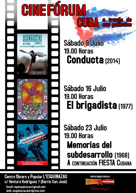 Centro Obrero y Popular L´Esquinazau. Ciclo de Cine. CUBA a través de sus películas