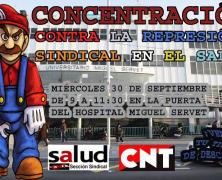 CONCENTRACION, contra la represión sindical en el SALUD…